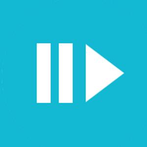 Pause symbol and play symbol