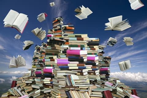 Mountain of books